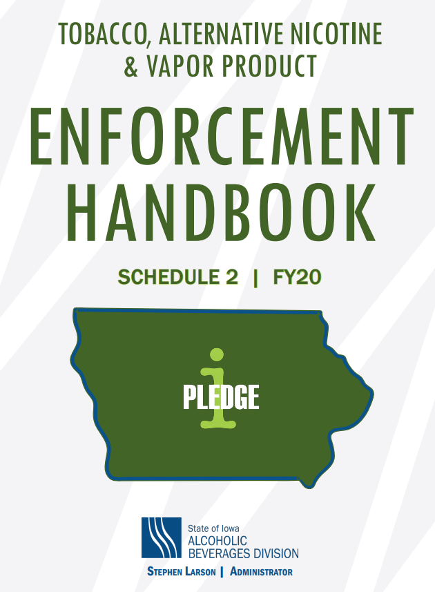 Cover of Fiscal Year 20 Tobacco Enforcement Handbook