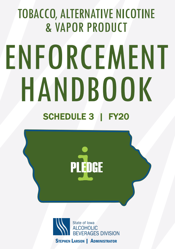 Cover of Fiscal Year 19 Tobacco Enforcement Handbook
