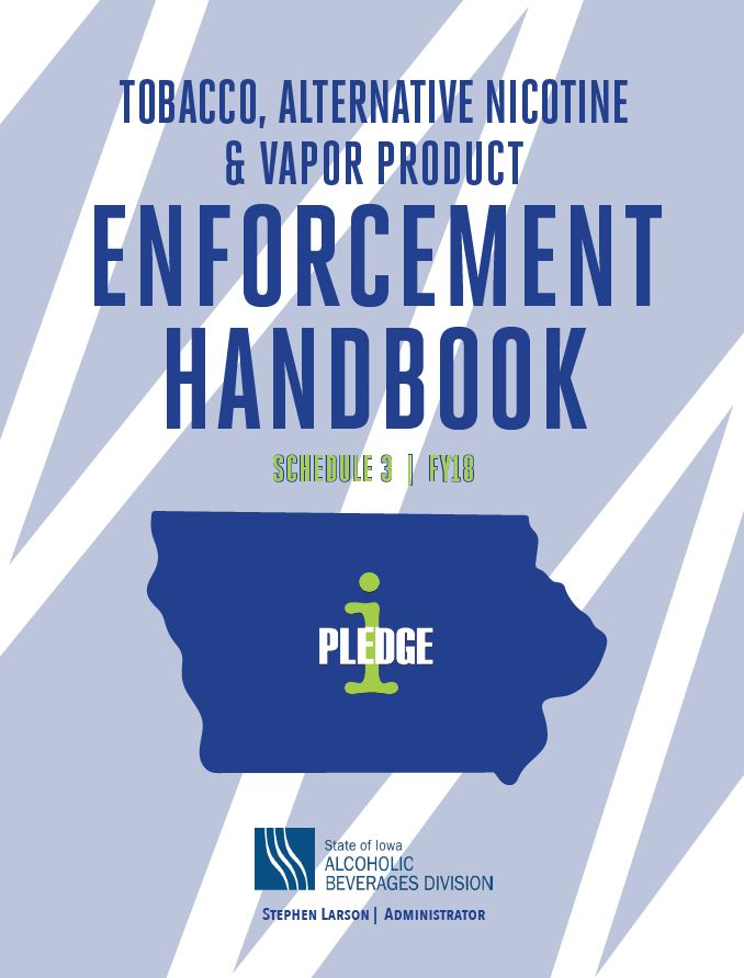 Cover of Fiscal Year 17 Tobacco Enforcement Handbook