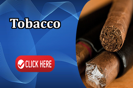 This is an interactive image of tobacco products. Wording on the image reads Tobacco Click Here